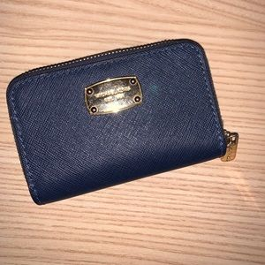 Mini Navy Blue Michael Kors wallet